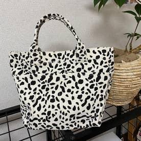 刺繍ロゴキャンバストートバッグ (Pシロ)