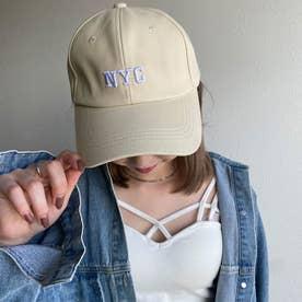 NYCロゴCAP (ベージュ)