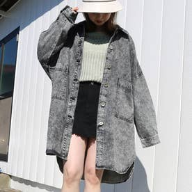 オーバーサイズシャツジャケット (クロ)