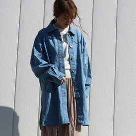 オーバーサイズシャツジャケット (ブリーチ)