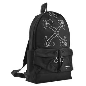 ABSTRACT ARROWS BACKPACK BLACK WHITE (BK)