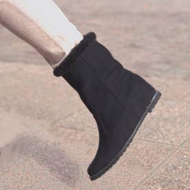 【レイン・スノー対応】ボリュームアンクルファースノーブーツ (sumire black)