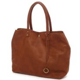 【日本製】シュリンクレザーオイル仕上げ2WAYトートバッグ/取り外し可能なバッグインバッグ付き(ブラウン)