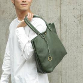 【日本製】シュリンクレザーオイル仕上げ2WAYトートバッグ/取り外し可能なバッグインバッグ付き(グリーン)