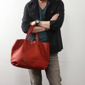 【日本製】シュリンクレザーオイル仕上げ2WAYトートバッグ/取り外し可能なバッグインバッグ付き(レッド)
