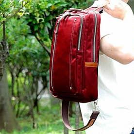 【日本製】高密度ナイロンツイル×レザー 大きめボディバッグ/ワンショルダーバッグ ヌメ革  A4収納可(WI)