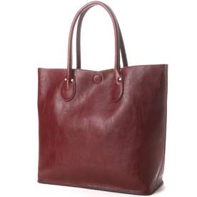 2WAYシュリンクレザータイプ合皮トートバッグ/取り外し可能なバッグインバッグ付き(WI)