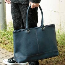 2WAYアンティークレザータイプ合皮トートバッグ/取り外し可能なバッグインバッグ付き(NV)
