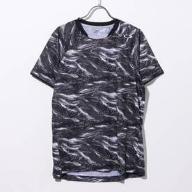 メンズ テニス 半袖Tシャツ SLANT GRAPHIC TEE 2.0 バドミントン グラフィック FOA401629 (ブラック)