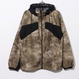 メンズ ウインドジャケット ENHANCE WIND MESH JACKET 10.7 FOA401598 (カーキ)