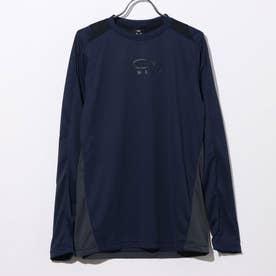 メンズ 長袖機能Tシャツ ENHANCE LS CREW 10.7 FOA401623 (ネイビー)