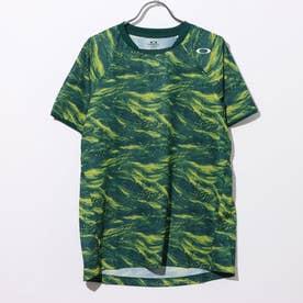 メンズ テニス 半袖Tシャツ SLANT GRAPHIC TEE 2.0 バドミントン グラフィック FOA401629 (グリーン)