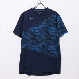メンズ テニス 半袖Tシャツ SLANT BLOCKING TEE 2.0 バドミントン FOA401666 (ネイビー)
