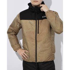 メンズ 中綿ジャケット ENHANCE INSULATION JACKET 10.7 FOA401416 (カーキ)