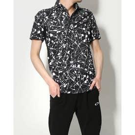 メンズ ゴルフ 半袖シャツ SKULL AURORA CALLIGRAPHIC SHIRT FOA402481 (ブラック)