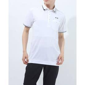 メンズ ゴルフ 半袖シャツ BLOCKING POCKET SHIRT FOA402502 (ホワイト)