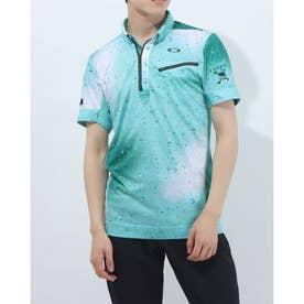 メンズ ゴルフ 半袖シャツ SKULL BREATHABLE DROPLET SHIRT FOA402489 (ブルー)