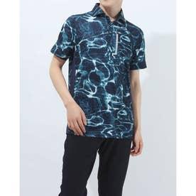メンズ ゴルフ 半袖シャツ SINUOUS GRID SHIRT FOA402501 (ネイビー)