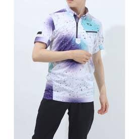 メンズ ゴルフ 半袖シャツ SKULL BREATHABLE DROPLET SHIRT FOA402489 (ホワイト)