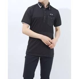 メンズ ゴルフ 半袖シャツ BLOCKING POCKET SHIRT FOA402502 (ブラック)