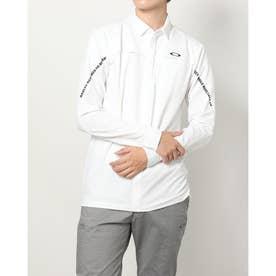 メンズ ゴルフ 長袖シャツ UNEVEN JQ LS SHIRT FOA402862 (ホワイト)