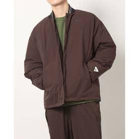 メンズ 中綿ジャケット BORDERLESS INSULATION STADIUM JACKET FOA403352 (ブラウン)