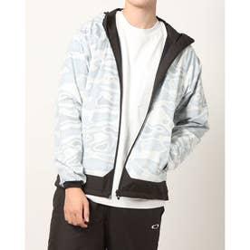 メンズ ウインドジャケット ENHANCE WIND WARM GRAPH JKT 10.7 FOA401602 (ホワイト)