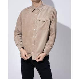 コーデュロイ素材のシャツ(ベージュ)