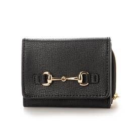 ビット付三つ折り財布 (ブラック)