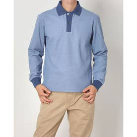 2色カラーポロシャツ (サックス)