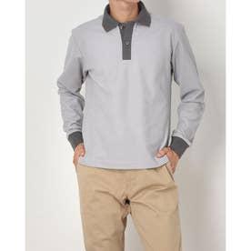 2色カラーポロシャツ (グレー)