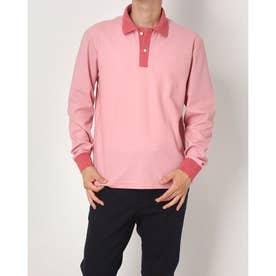2色カラーポロシャツ (ピンク)