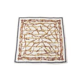 チェーン柄スカーフ (ホワイト(001))