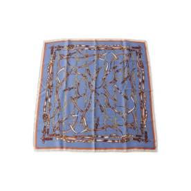 チェーン柄スカーフ (ブルー(092))
