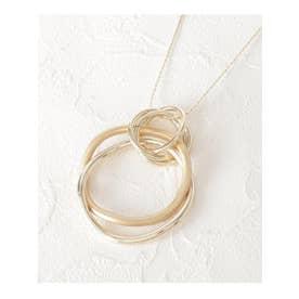 メタルリングネックレス (ゴールド(007))