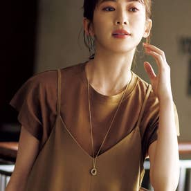 ◆リングロングネックレス (ゴールド)