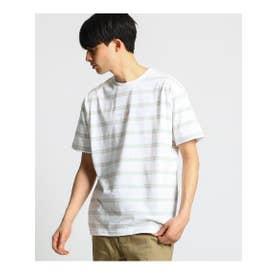 new balance ストライプTシャツ (ホワイト(301))