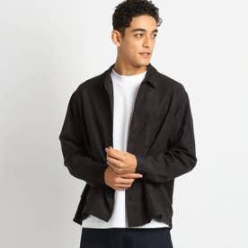 フェイクスエードシャツ (ブラック)