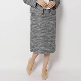 キャリーマンツイードナロースカート【セレモニー・入卒/WEB限定サイズ】 (ブラック)
