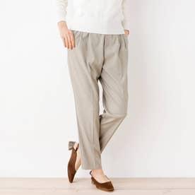 【My style is...掲載】【洗える・34(SS)、42(LL)WEB限定サイズ】キャリーマンセンタープレステーパードパンツ (サンドベージ