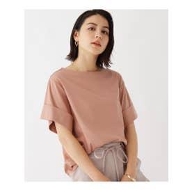 オーガニックコットン スムースボクシーTシャツ (ベージュ)