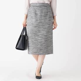 CARREMANツイードタイトスカート (ブラック)