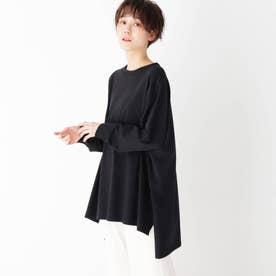 ワイドシルエットロングスリーブTシャツ【LOUNGEWEAR】 (ブラック)