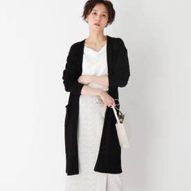 Lux organic cotton 天竺編みロングカーディガン (ブラック)
