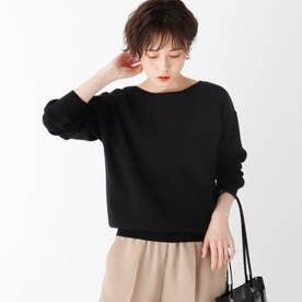 【エマール検証済】Lux organic cotton ボートネックニット (ブラック)