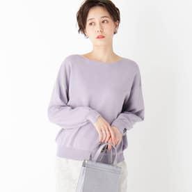 【エマール検証済】Lux organic cotton ボートネックニット (ライトパープル)