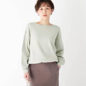 【エマール検証済】Lux organic cotton ボートネックニット (オリーブグリーン)