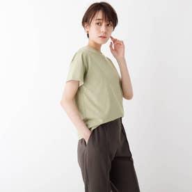 スペシャルコットン 天竺クルーネックTシャツ (カーキ)
