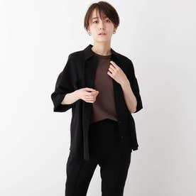 サマーウーリッシュドライストレッチ CPOシャツジャケット (ブラック)
