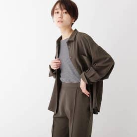 サマーウーリッシュドライストレッチ CPOシャツジャケット (スミクロ)
